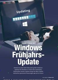 Titelbild der Ausgabe 3/2019 von WINDOWS 10 VERSION 1903: Windows Frühjahrs-Update. Zeitschriften als Abo oder epaper bei United Kiosk online kaufen.