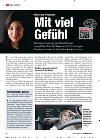 Titelbild der Ausgabe 4/2019 von KÜNSTLICHE INTELLIGENZ: Mit viel Gefühl. Zeitschriften als Abo oder epaper bei United Kiosk online kaufen.