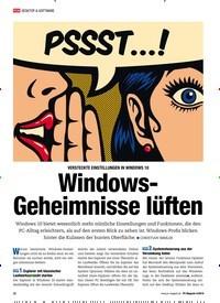 Titelbild der Ausgabe 4/2019 von VERSTECKTE EINSTELLUNGEN IN WINDOWS 10: Windows-Geheimnisse lüften. Zeitschriften als Abo oder epaper bei United Kiosk online kaufen.