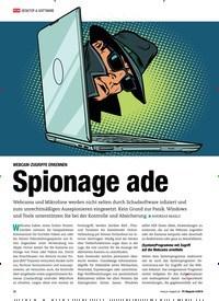 Titelbild der Ausgabe 4/2019 von WEBCAM-ZUGRIFFE ERKENNEN: Spionage ade. Zeitschriften als Abo oder epaper bei United Kiosk online kaufen.