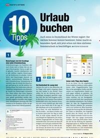 Titelbild der Ausgabe 4/2019 von 10 Tipps: Urlaub buchen. Zeitschriften als Abo oder epaper bei United Kiosk online kaufen.