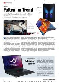 Titelbild der Ausgabe 5/2019 von MWC2019: Falten im Trend. Zeitschriften als Abo oder epaper bei United Kiosk online kaufen.