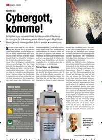 Titelbild der Ausgabe 5/2019 von GLAUBE 2.0: Cybergott, komme!. Zeitschriften als Abo oder epaper bei United Kiosk online kaufen.