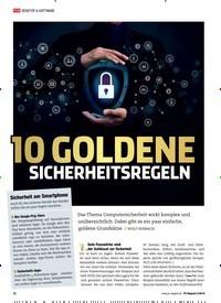 Titelbild der Ausgabe 5/2019 von 10 GOLDENE SICHERHEITSREGELN. Zeitschriften als Abo oder epaper bei United Kiosk online kaufen.
