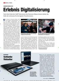 Titelbild der Ausgabe 6/2019 von HANNOVER MESSE 2019: Erlebnis Digitalisierung. Zeitschriften als Abo oder epaper bei United Kiosk online kaufen.