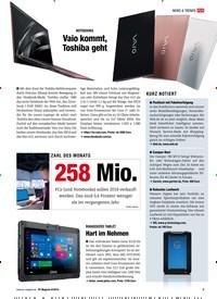 Titelbild der Ausgabe 6/2019 von NOTEBOOKS: Vaio kommt, Toshiba geht. Zeitschriften als Abo oder epaper bei United Kiosk online kaufen.