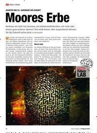 Titelbild der Ausgabe 6/2019 von QUANTEN UND CO.: HARDWARE DER ZUKUNFT: Moores Erbe. Zeitschriften als Abo oder epaper bei United Kiosk online kaufen.