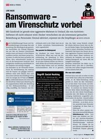 Titelbild der Ausgabe 7/2019 von LIVE HACK: Ransomware – am Virenschutz vorbei. Zeitschriften als Abo oder epaper bei United Kiosk online kaufen.