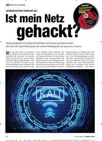 Titelbild der Ausgabe 7/2019 von SICHERHEITSLÜCKEN FINDEN MIT KALI: Ist mein Netz gehackt?. Zeitschriften als Abo oder epaper bei United Kiosk online kaufen.