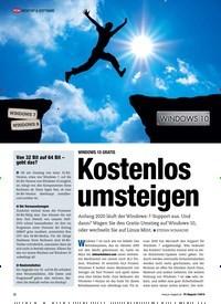 Titelbild der Ausgabe 7/2019 von WINDOWS 10 GRATIS: Kostenlos umsteigen. Zeitschriften als Abo oder epaper bei United Kiosk online kaufen.
