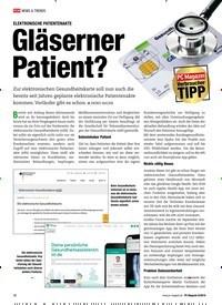 Titelbild der Ausgabe 8/2019 von ELEKTRONISCHE PATIENTENAKTE: Gläserner Patient?. Zeitschriften als Abo oder epaper bei United Kiosk online kaufen.