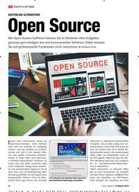 Titelbild der Ausgabe 8/2019 von KOSTENLOSE ALTERNATIVEN: Open Source. Zeitschriften als Abo oder epaper bei United Kiosk online kaufen.