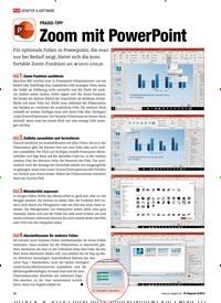 Titelbild der Ausgabe 8/2019 von PRAXIS-TIPP: Zoom mit PowerPoint. Zeitschriften als Abo oder epaper bei United Kiosk online kaufen.
