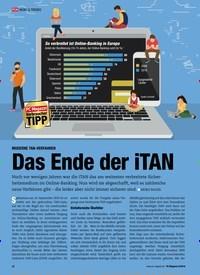 Titelbild der Ausgabe 9/2019 von MODERNE TAN-VERFAHREN: Das Ende der iTAN. Zeitschriften als Abo oder epaper bei United Kiosk online kaufen.