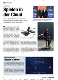 Titelbild der Ausgabe 10/2019 von GAMESCOM 2019 Spielen in der Cloud. Zeitschriften als Abo oder epaper bei United Kiosk online kaufen.