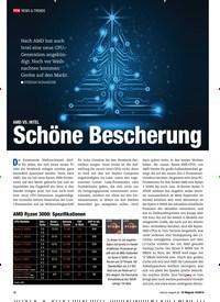 Titelbild der Ausgabe 10/2019 von AMD VS. INTEL: Schöne Bescherung. Zeitschriften als Abo oder epaper bei United Kiosk online kaufen.