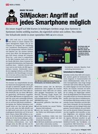 Titelbild der Ausgabe 11/2019 von INSIDE THE HACK: SIMjacker: Angriff auf jedes Smartphone möglich. Zeitschriften als Abo oder epaper bei United Kiosk online kaufen.