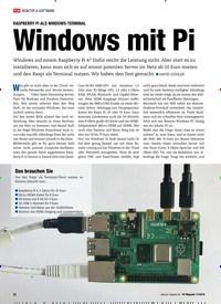 Titelbild der Ausgabe 11/2019 von RASPBERRY PI ALS WINDOWS-TERMINAL: Windows mit Pi Raspberry Pi als Windows-Terminal. Zeitschriften als Abo oder epaper bei United Kiosk online kaufen.