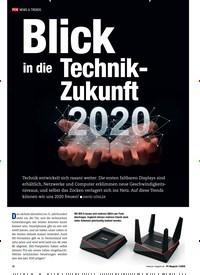 Titelbild der Ausgabe 1/2020 von Blick in die Technik- Zukunft 2020. Zeitschriften als Abo oder epaper bei United Kiosk online kaufen.