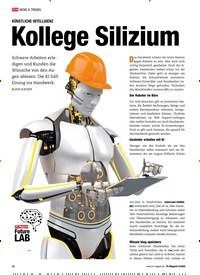 Titelbild der Ausgabe 4/2020 von KÜNSTLICHE INTELLIGENZ: Kollege Silizium. Zeitschriften als Abo oder epaper bei United Kiosk online kaufen.