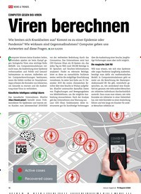 Titelbild der Ausgabe 6/2020 von COMPUTER GEGEN BIO-VIREN:Viren berechnen. Zeitschriften als Abo oder epaper bei United Kiosk online kaufen.