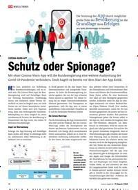 Titelbild der Ausgabe 7/2020 von CORONA-WARN-APP: Schutz oder Spionage?. Zeitschriften als Abo oder epaper bei United Kiosk online kaufen.