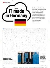 Titelbild der Ausgabe 7/2020 von ZUKUNFT: IT made in Germany. Zeitschriften als Abo oder epaper bei United Kiosk online kaufen.