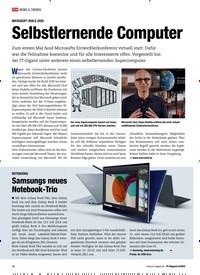 Titelbild der Ausgabe 8/2020 von MICROSOFT BUILD 2020: Selbstlernende Computer. Zeitschriften als Abo oder epaper bei United Kiosk online kaufen.