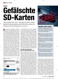 Titelbild der Ausgabe 8/2020 von BETRUG: Gefälschte SD-Karten. Zeitschriften als Abo oder epaper bei United Kiosk online kaufen.