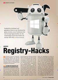 Titelbild der Ausgabe 8/2020 von WINDOWS Registry-Hacks. Zeitschriften als Abo oder epaper bei United Kiosk online kaufen.
