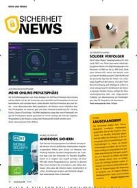 Titelbild der Ausgabe 6/2018 von SICHERHEIT NEWS. Zeitschriften als Abo oder epaper bei United Kiosk online kaufen.
