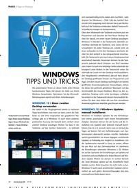 Titelbild der Ausgabe 6/2018 von Tipps zu Windows: WINDOWS TIPPS UND TRICKS. Zeitschriften als Abo oder epaper bei United Kiosk online kaufen.
