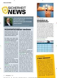 Titelbild der Ausgabe 7/2018 von SICHERHEIT NEWS. Zeitschriften als Abo oder epaper bei United Kiosk online kaufen.