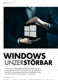 Titelbild der Ausgabe 7/2018 von Windows unzerstörbar: WINDOWS UNZERSTÖRBAR. Zeitschriften als Abo oder epaper bei United Kiosk online kaufen.