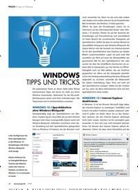 Titelbild der Ausgabe 7/2018 von Tipps zu Windows: WINDOWS TIPPS UND TRICKS. Zeitschriften als Abo oder epaper bei United Kiosk online kaufen.