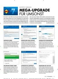 Titelbild der Ausgabe 8/2018 von AVM FRITZ!OS 7 NEUERUNGEN: MEGA-UPGRADE FÜR UMSONST. Zeitschriften als Abo oder epaper bei United Kiosk online kaufen.