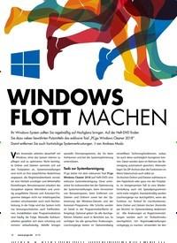 Titelbild der Ausgabe 8/2018 von WINDOWS FLOTT MACHEN. Zeitschriften als Abo oder epaper bei United Kiosk online kaufen.