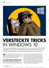 Titelbild der Ausgabe 8/2018 von Windows geheim: VERSTECKTE TRICKS IN WINDOWS 10. Zeitschriften als Abo oder epaper bei United Kiosk online kaufen.
