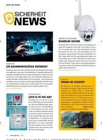 Titelbild der Ausgabe 9/2018 von SICHERHEIT NEWS. Zeitschriften als Abo oder epaper bei United Kiosk online kaufen.