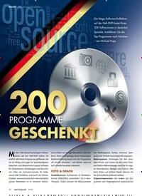 Titelbild der Ausgabe 9/2018 von 200 PROGRAMME GESCHENKT. Zeitschriften als Abo oder epaper bei United Kiosk online kaufen.
