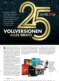 Titelbild der Ausgabe 10/2018 von 25 JAHRE PCgo: VOLLVERSIONEN ALLES GRATIS. Zeitschriften als Abo oder epaper bei United Kiosk online kaufen.