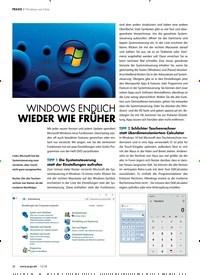 Titelbild der Ausgabe 12/2018 von PRAXIS ? Windows wie früher: WINDOWS ENDLICH WIEDER WIE FRÜHER. Zeitschriften als Abo oder epaper bei United Kiosk online kaufen.