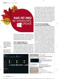 Titelbild der Ausgabe 1/2019 von Windows 10 Herbst-Update: DAS IST NEU IM WINDOWS-UPDATE. Zeitschriften als Abo oder epaper bei United Kiosk online kaufen.