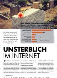 Titelbild der Ausgabe 3/2019 von PRAXIS Digitaler Nachlass: UNSTERBLICH IM INTERNET. Zeitschriften als Abo oder epaper bei United Kiosk online kaufen.