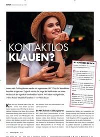Titelbild der Ausgabe 4/2019 von REPORT: Gelddiebstahl per NFC: KONTAKTLOS KLAUEN?. Zeitschriften als Abo oder epaper bei United Kiosk online kaufen.