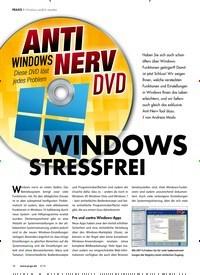 Titelbild der Ausgabe 4/2019 von Windows endlich stressfrei: ANTI NERV DVD: WINDOWS STRESSFREI. Zeitschriften als Abo oder epaper bei United Kiosk online kaufen.