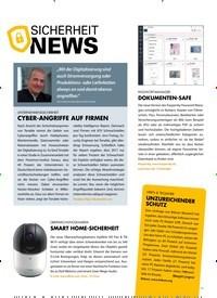 Titelbild der Ausgabe 5/2019 von SICHERHEIT NEWS. Zeitschriften als Abo oder epaper bei United Kiosk online kaufen.