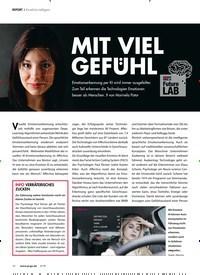 Titelbild der Ausgabe 5/2019 von REPORT:Künstliche Intelligenz: MIT VIEL GEFUHL. Zeitschriften als Abo oder epaper bei United Kiosk online kaufen.