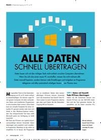Titelbild der Ausgabe 5/2019 von Datenübertragung von PC zu PC: ALLE DATEN SCHNELL ÜBERTRAGEN. Zeitschriften als Abo oder epaper bei United Kiosk online kaufen.