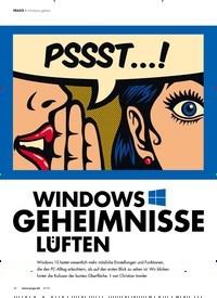Titelbild der Ausgabe 6/2019 von WINDOWS GEHEIMNISSE LUFTEN: Windows geheim. Zeitschriften als Abo oder epaper bei United Kiosk online kaufen.